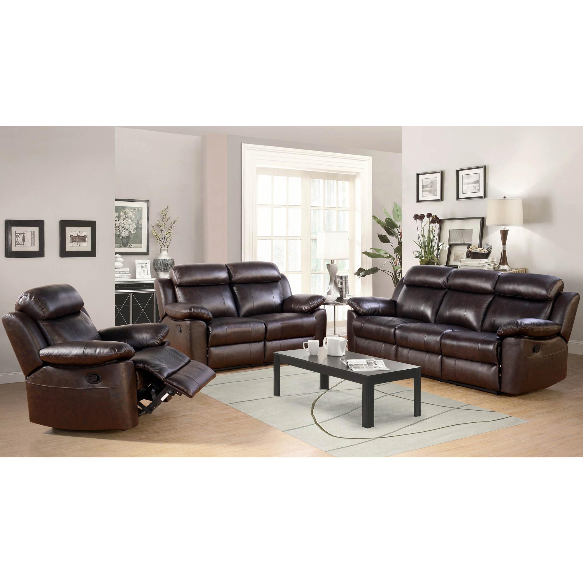Abbyson living braylen 3 pc leather reclining set bj 39 s for Abbyson living sedona leather chaise recliner