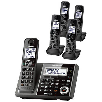 Panasonic Link2Cell DECT 6.0 5-Handset Cordless Phone with Digital Answering System and Bluetooth Technology
