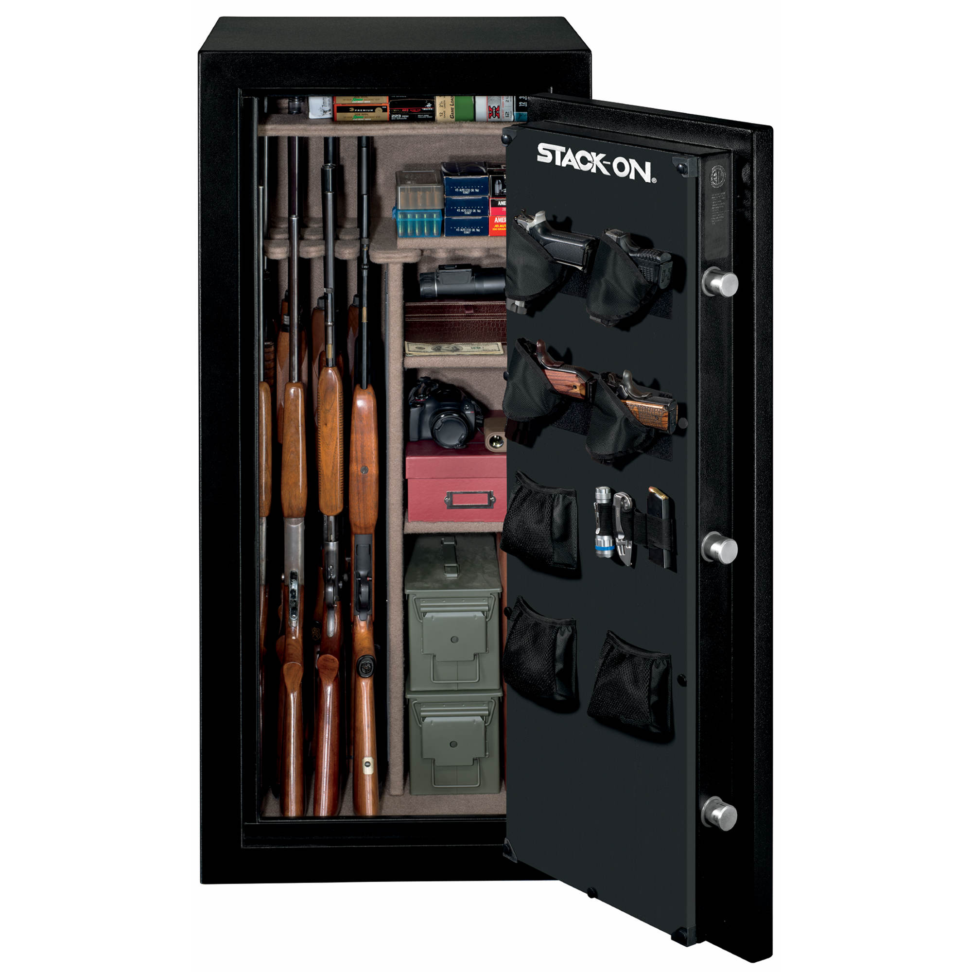 Stock On Gun Cabinet Stack On 24 Gun Fire Safe With Electronic Lock Bjs Wholesale Club