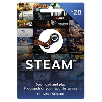 $20 Steam Gift Card