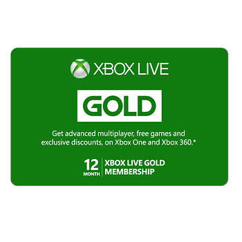 Xbox Live Gold 12-Month Membership
