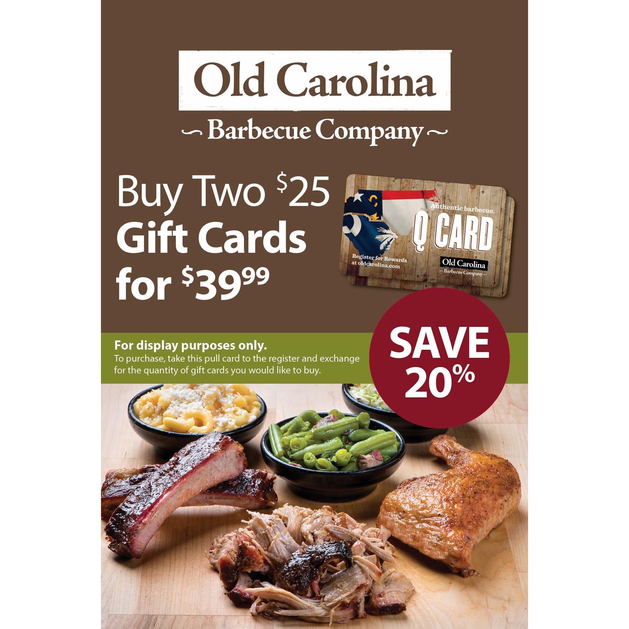 Get deal alerts for OLD CAROLINA BBQ