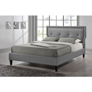 Baxton Studio Marquesa Queen-Size Bed - Gray