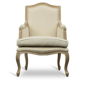 Baxton Studio Nivernais Wood French Accent Chair