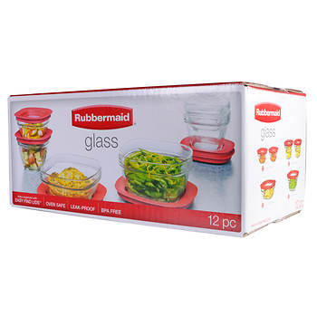 Rubbermaid 12-Pc. Glass Food Storage Set