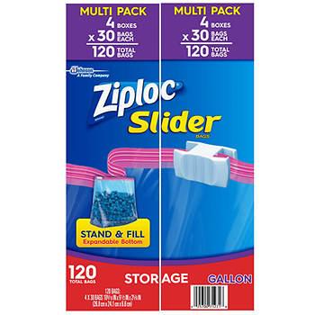 Ziploc Slider Storage Bags, Gallon Size, 120 ct.