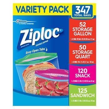 Ziploc Storage Bags, Various Sizes, 347 ct.