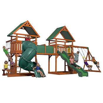 Backyard Discovery Grand Towers All-Cedar Swing Set
