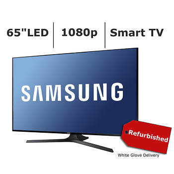 "Refurbished Samsung UN65J630D 65"" 1080p Slim Smart LED TV with White Glove Delivery"