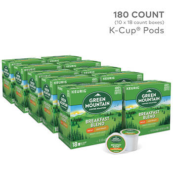 Green Mountain Coffee Breakfast Blend Decaf K-Cups, 180 ct.