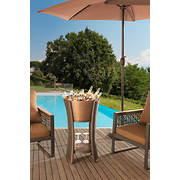 Sunjoy Antigua Beverage Tub, Tray and Stand - Brown