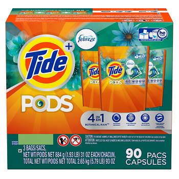 Tide PODs Plus Febreze Laundry Detergent Packs, 90 ct.
