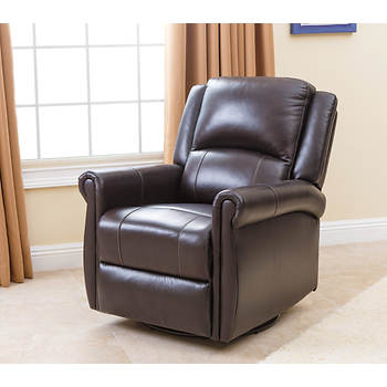 Abbyson Living Luna Swivel Glider Recliner - Dark Brown