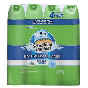 Scrubbing Bubbles Bathroom Cleaner, 4 pk./25 oz.