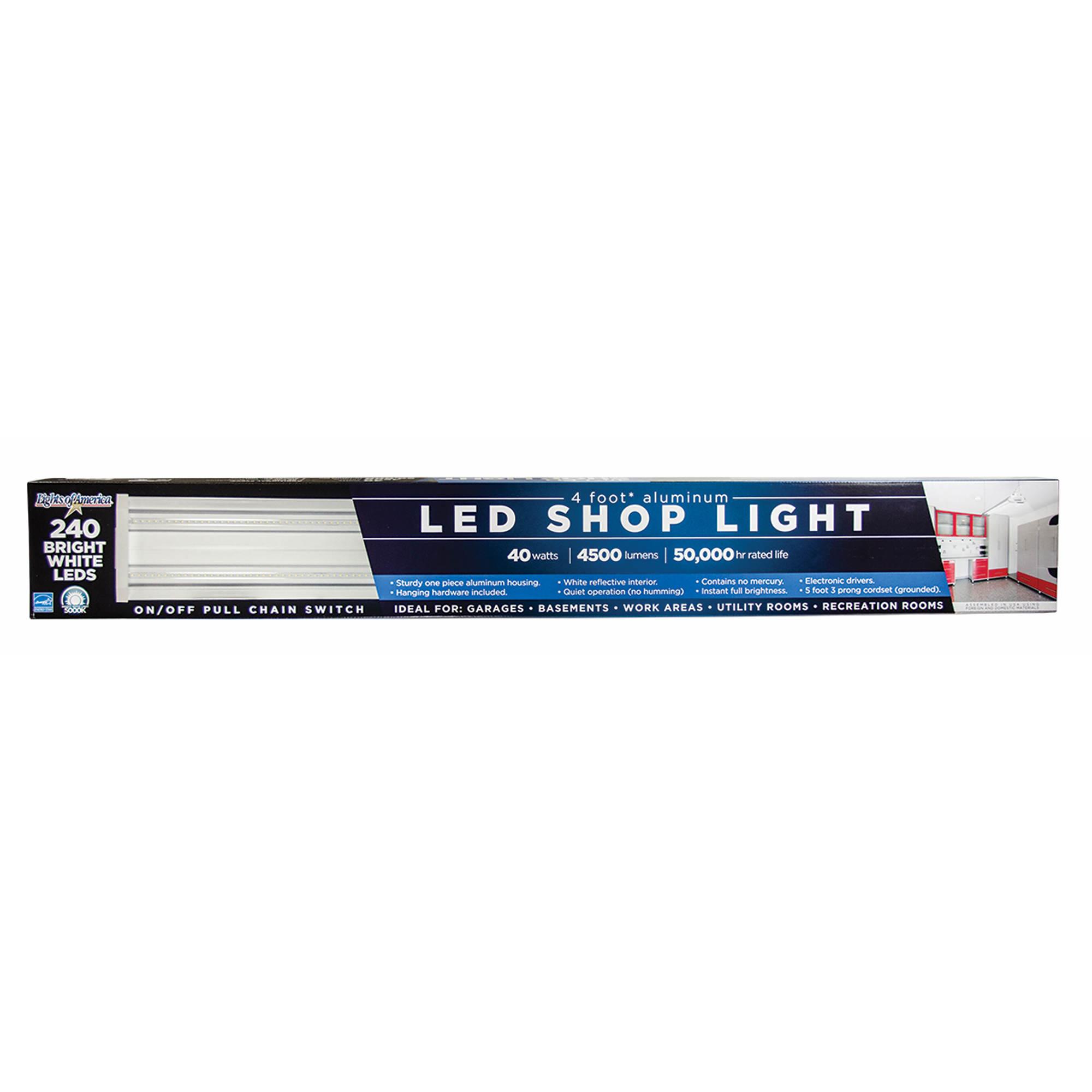 Led Shop Lights: Lights Of America LED Utility Shop Light