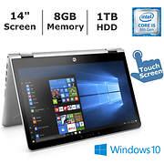 HP Pavilion x360 Convertible Laptop, Intel Core i5-8250U, 8GB Memory,