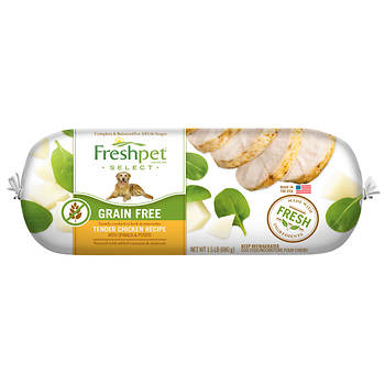 Freshpet Select Grain Free Tender Chicken With Spinach and Potato Recipe Dog Food