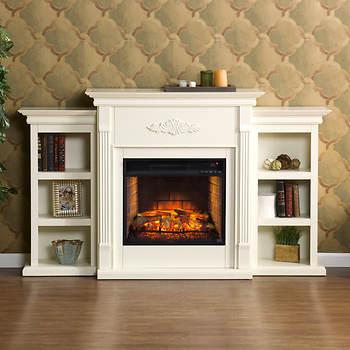 SEI Newport Fireplace - Ivory