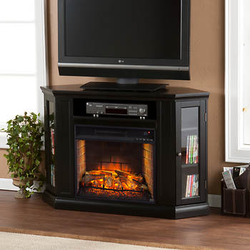 SEI Montego Convertible Fireplace - Black