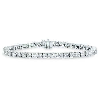 5.00 ct. t.w. Diamond Tennis Bracelet in 14k White Gold