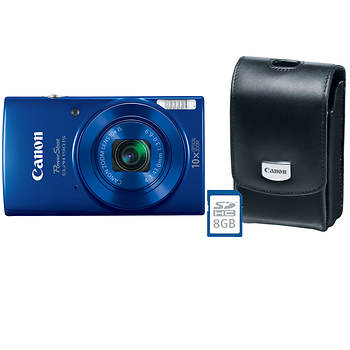 Canon PowerShot ELPH 190 IS 20MP 10x Zoom Camera with 8GB Memory Card and Case - Blue