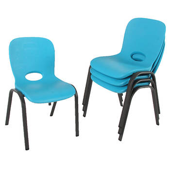 Lifetime Contemporary Children's Stacking Chair, 4 pk. - Blue