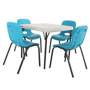 Lifetime Children's Table and 4 Chairs Combination - Blue