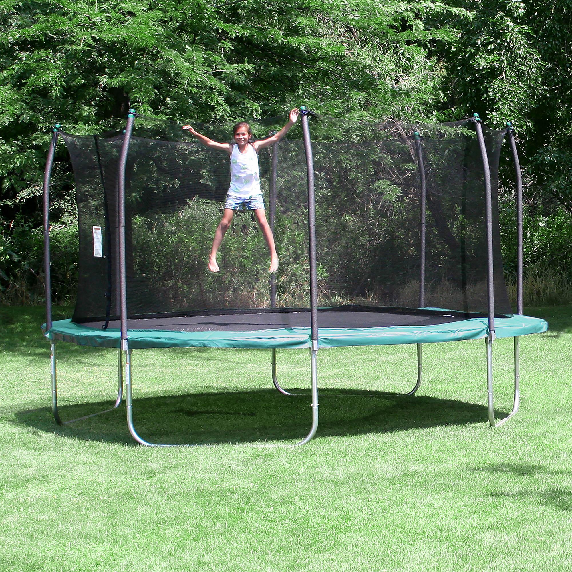 Skywalker Trampolines 15 Foot Sq Trampoline And Safety: Skywalker Trampolines 15' Square Trampoline With Enclosure