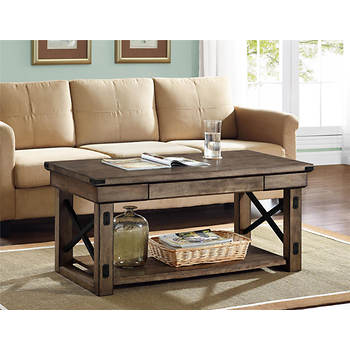 Altra Wildwood Wood Veneer Coffee Table - Rustic Gray