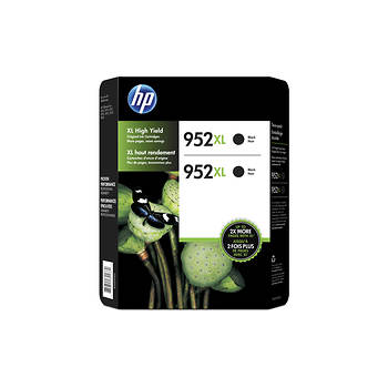 HP 952XL High-Yield Black Ink Cartridges, 2 pk.