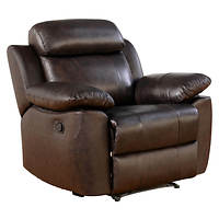 Deals on Abbyson Living Braylen Top-Grain Leather Recliner