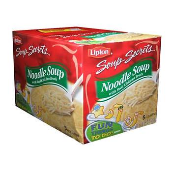 Lipton Soup Secrets Noodle Soup Mix, 5 pk./4.5 oz.