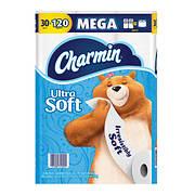 Charmin Ultra Soft Mega Roll Toilet Paper, 30 pk.