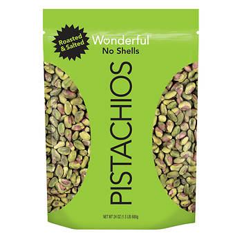 Wonderful Shelled Pistachios, 24 oz.