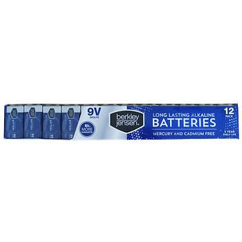 Berkley Jensen 9V Alkaline Battery, 12 pk.