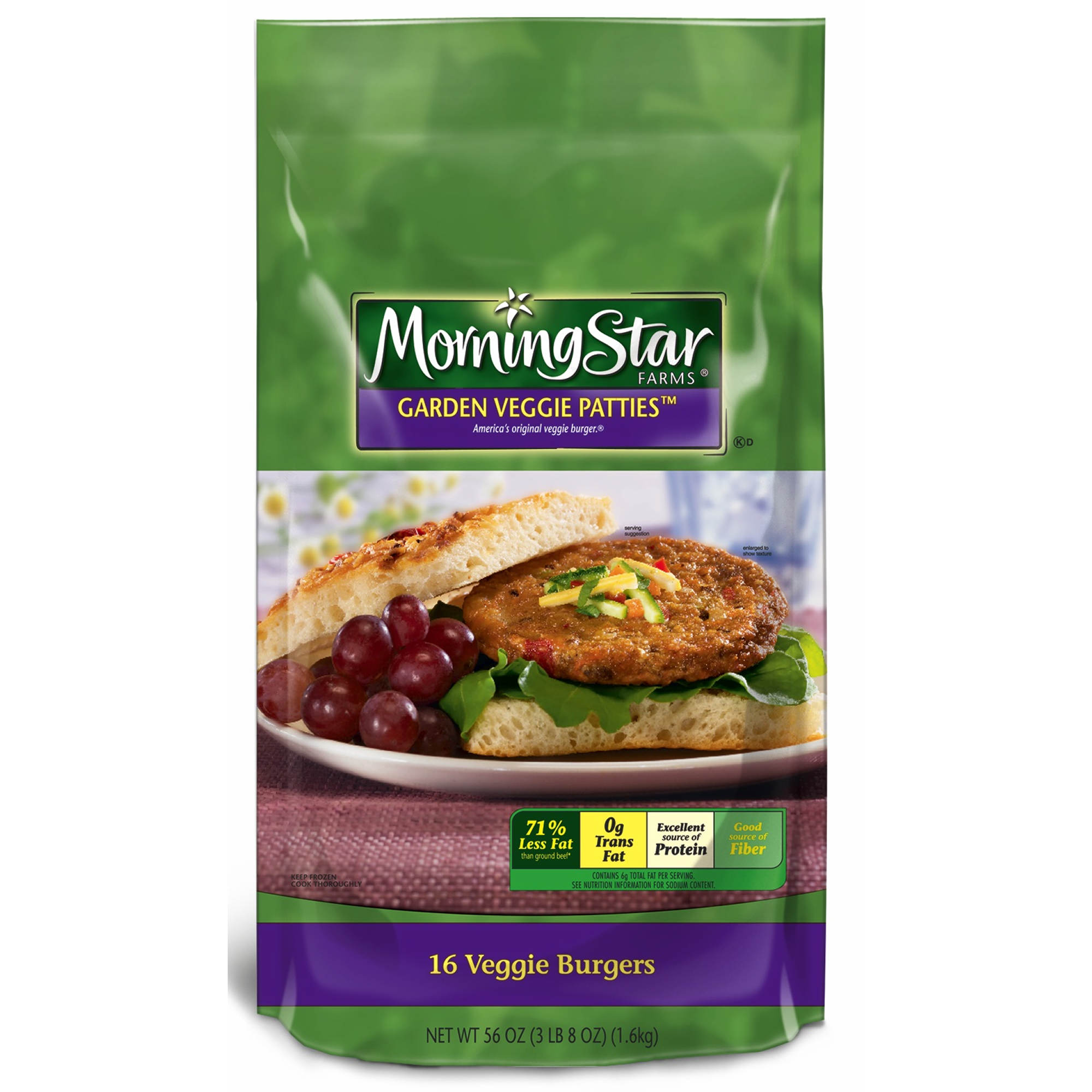 Morningstar Farms Garden Veggie Patties 16 Pk 3 5 Oz