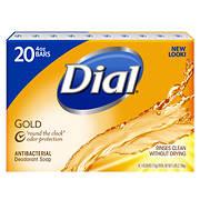 Dial Gold Antibacterial Deodorant Bar Soap, 20 ct./4 oz.