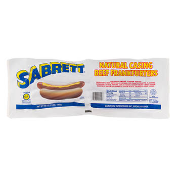 Sabrett Natural Casing Beef Franks, 3 lbs.