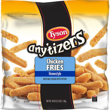 Tyson Any'Tizers Homestyle Chicken Fries, 40 oz.