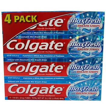 Colgate Max Fresh Toothpaste, 4 pk./7.8 oz.