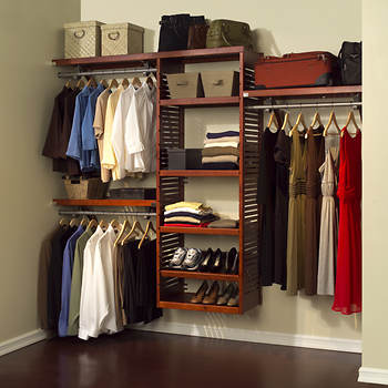 John Louis Home Deluxe Closet System - Red Mahogany