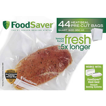 FoodSaver Quart-Size Vacuum Storage Bags, 44 Count
