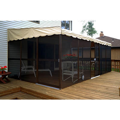 "Patio-Mate Chestnut 19'3""l x 11'6""w Screened Enclosure"