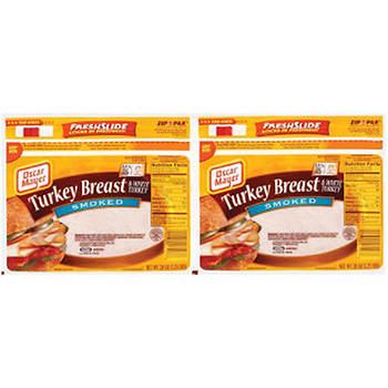 Oscar Mayer Smoked Turkey Breast, 20 oz., 2 pk.