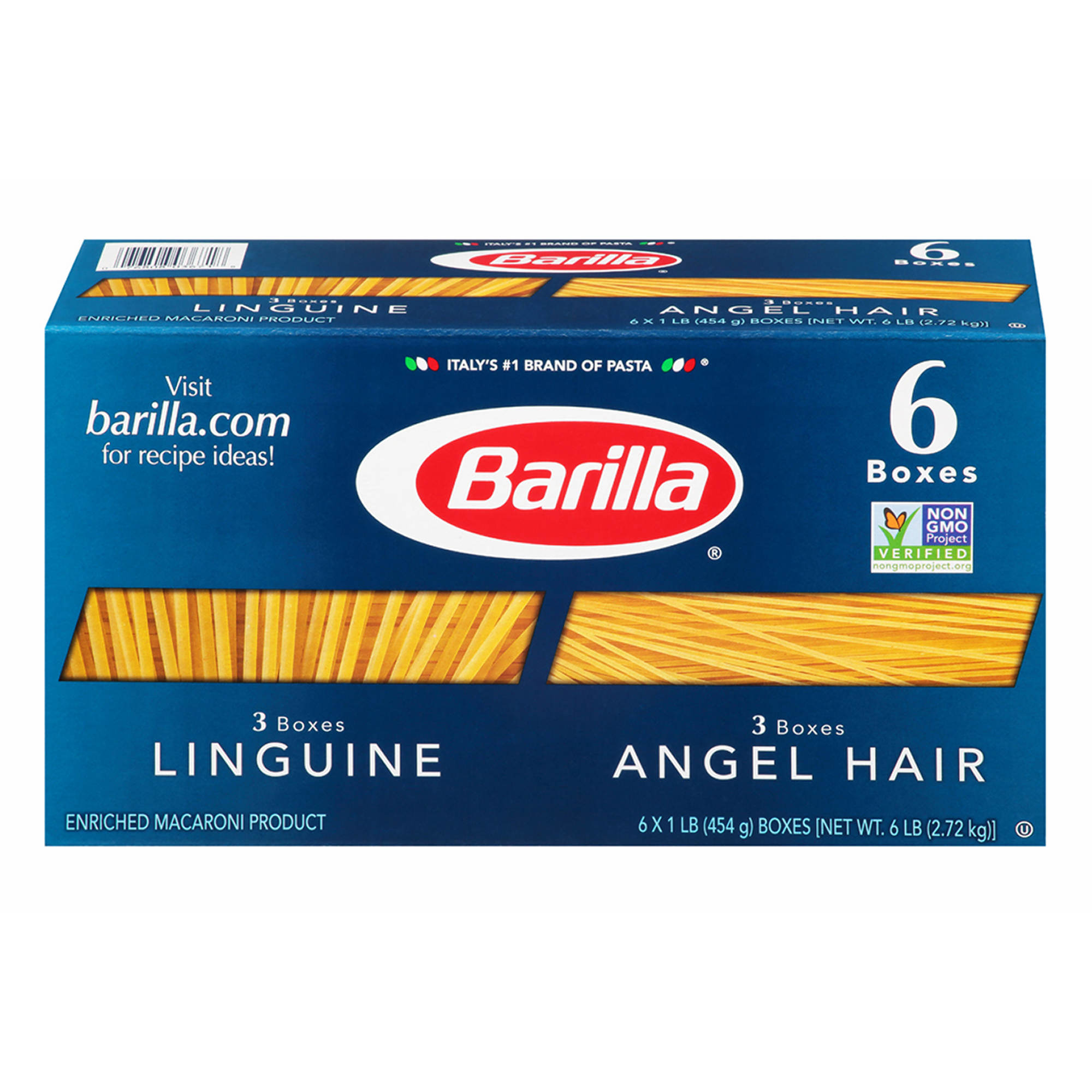 barilla angel hair and linguine pasta oz pk bj s barilla angel hair and linguine pasta 16 oz 6 pk