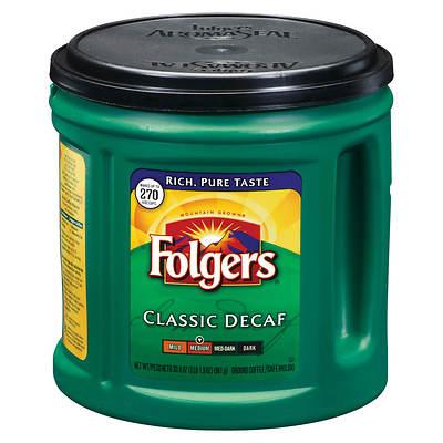 Folgers Decaf Coffee, 33.9 Oz.