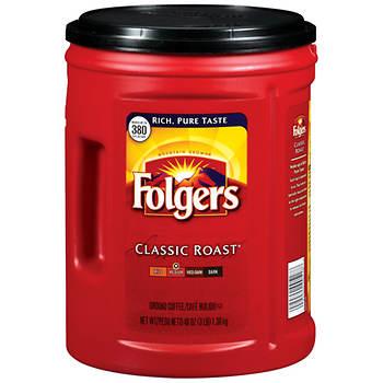 Folgers Classic Roast Coffee, 48 oz.