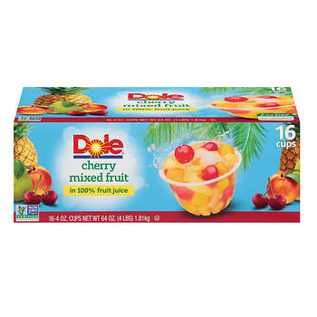 Dole Cherry Mixed Fruit Cups, 16 pk./4 oz.