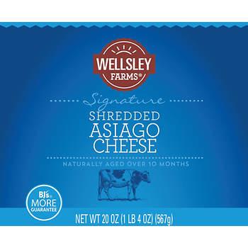 Wellsley Farms Shredded Asiago, 20 oz.