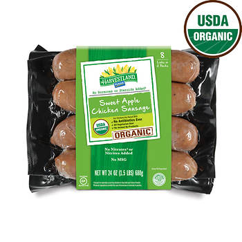 Harvestland by Perdue Organic Sweet Apple Chicken Sausage